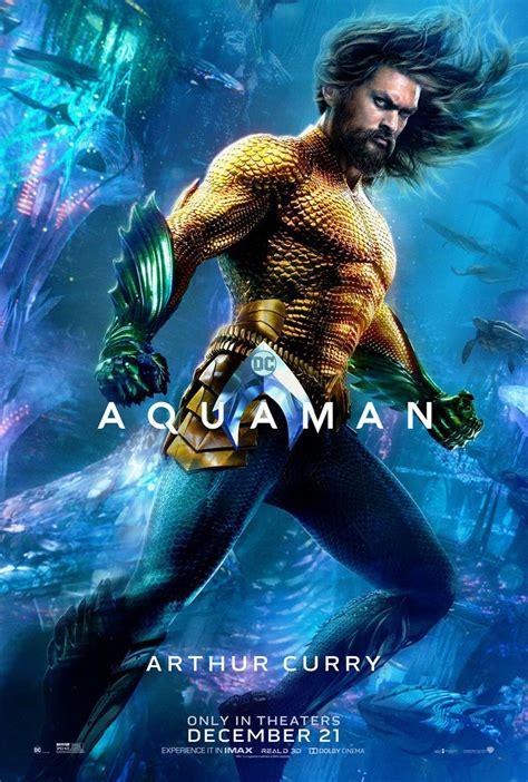 aquaman character  poster arthur curry aquaman