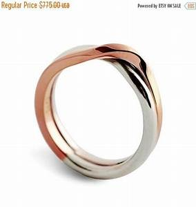 black friday sale love knot white and rose gold wedding With black friday mens wedding rings