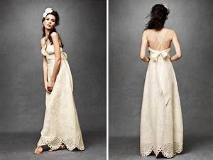 ivory empire eyelit lace wedding dress with halter With casual bohemian wedding dresses