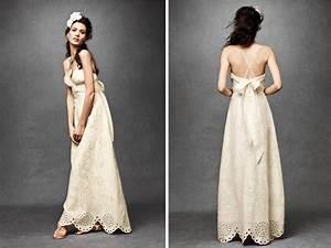 ivory empire eyelit lace wedding dress with halter With ivory casual wedding dresses