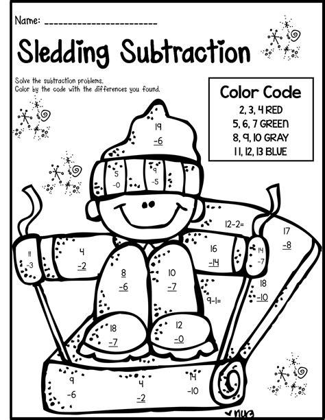 Math Worksheets For 1st Grade Christmas Homeshealthinfo