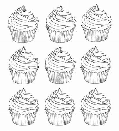 Coloring Cupcakes Warhol Pages Adults Printable Cup