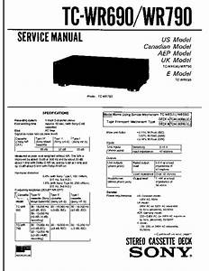 Sony Tc-wr690  Tc-wr790 Service Manual