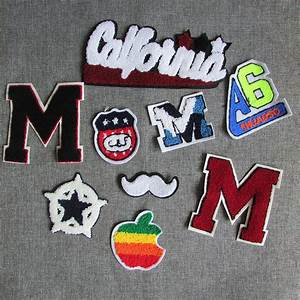 1pcs sell loveliness letter patch sew on embroidered towel With fabric letter patches