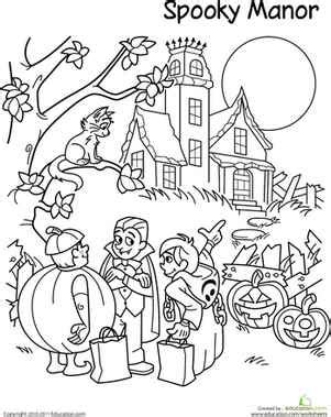 Halloween Coloring Pages for 3rd Grade – Festival Collections