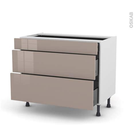 casserolier cuisine meuble de cuisine casserolier keria moka 3 tiroirs l100 x