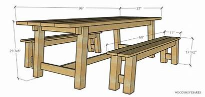 Table Trestle Plans Bench Building Step Tutorial