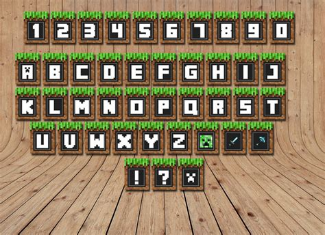 minecraft banners printable alphabet  littlelight  zibbet