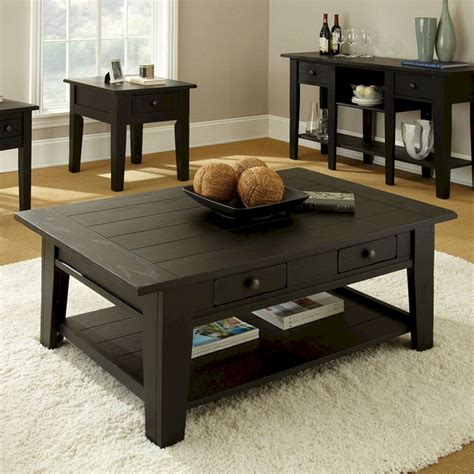 Vases in sets will usually have different heights and widths, which is handy! Black Coffee Table Decorating Ideas (Black Coffee Table ...