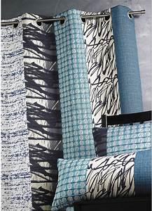 Rideau Bleu Pétrole : rideau jacquard rayures verticales bleu p trole ivoire bambou parme piment ~ Farleysfitness.com Idées de Décoration
