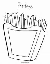Coloring Chips Fries French Twisty Outline Noodle Twistynoodle Built California Usa Login Favorites sketch template