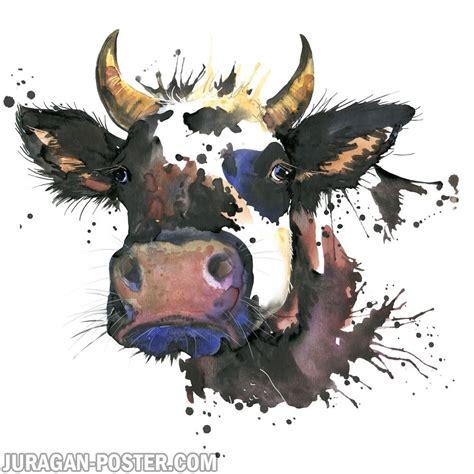 juragan poster jual poster gambar hewan lukisan sapi #jual