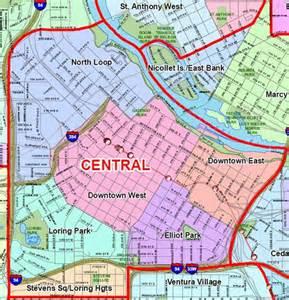 North Minneapolis Neighborhood Map