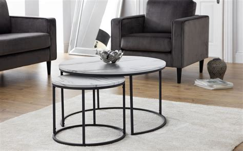 What are the shipping options for coffee tables? Bellini Round Nesting Coffee Table - White Marble | Julian Bowen Limited