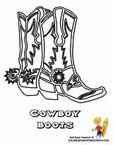 Cowboy Coloring Boots Boot Pages Drawing Line Cowgirl Western Boys Yescoloring Colouring Hiking Hat Ride Print America Cowboys Draw Em sketch template