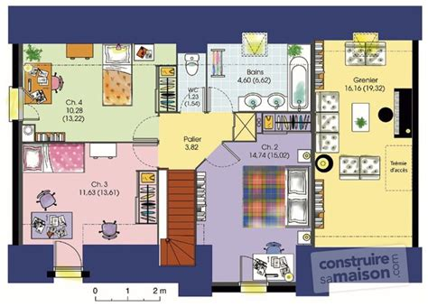 plan maison gratuit 4 chambres plan de maison gratuit 4 chambres pdf