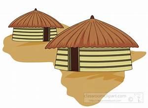Africa Clipart- african-hut-yellow-africa-clipart ...