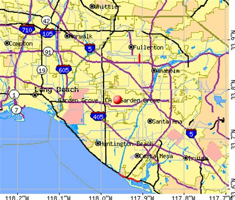 garden grove ca garden grove california map