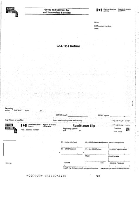 goods and services tax form canada form fpz 34 v goods and services tax and harmonized