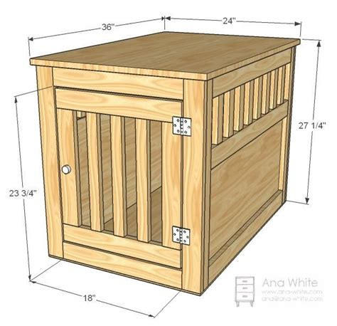 dog crate side table large wood pet kennel end table diy do it myself