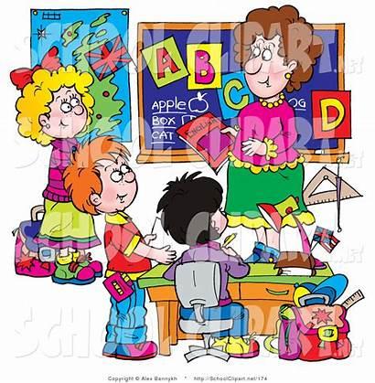 Classroom Clipart Class Clip Teacher Preschool Teachers