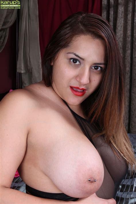 Italian Bbw Cece Giovanni Exposing Large Milf Tits And Pierced Nipples