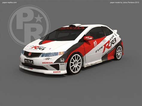Honda Civic Type-r R3 Paper Model