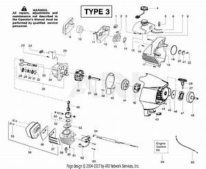 Poulan Ppb150e Gas Trimmer Type 3 Parts Diagram For Engine Assembly Type 3
