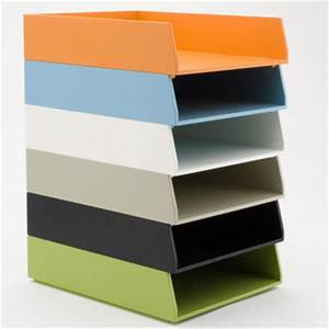 See jane work basic letter trays contemporary desk for Colored stackable letter trays