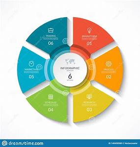 Infographic Circle  Cycle Diagram With 6 Stages Stock