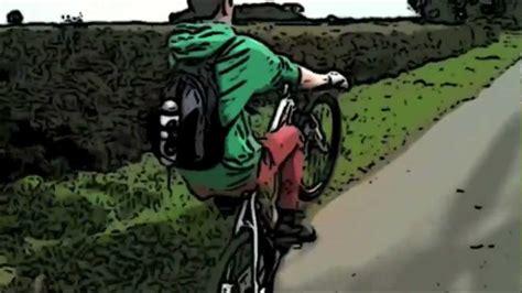 Mountain Bike Wheelie Cartoon