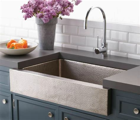 hammered stainless steel apron front sink kitchen sinks fantasia showrooms