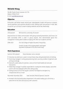 Doc Resume Sample For Part Time Job