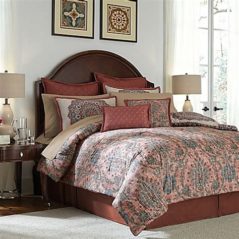 red california king comforter sets buy jacobean 12 california king comforter set in from bed bath beyond