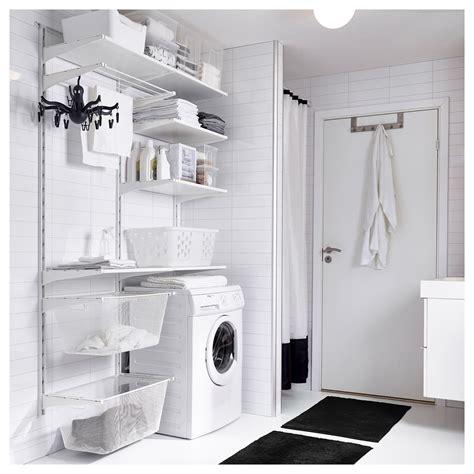 mini panier de basket chambre algot wall upright shelves drying rack white 132x41x199 cm