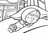 Sleepyhead Sleep Coloring Template sketch template