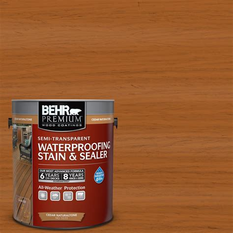 Behr Deck Home Depot by Behr Premium 1 Gal Cedar Naturaltone Semi Transparent