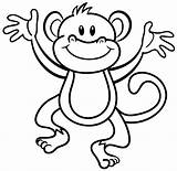 Monkey Coloring sketch template