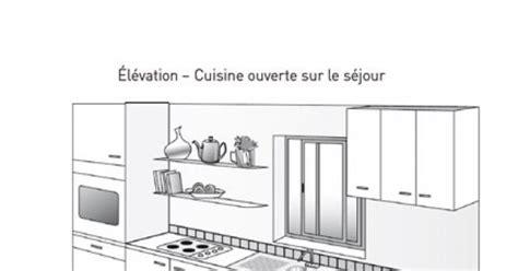 cuisine sur plan plan de cuisine
