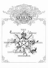 Wiccan Shadows Pagan Sabbats Holidays Coloring Pages Wheel Wicca Witchcraft Printable Paganism Magic Witches Yule Spells Books Calendar Beltane Goddess sketch template