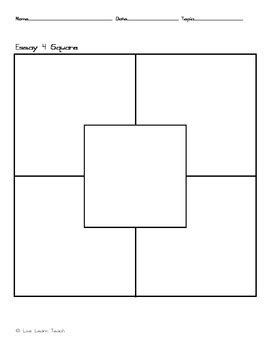 four square writing template 4 square writing template by live learn teach teachers pay teachers