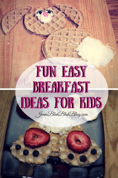 fun  easy breakfast ideas  kids bunny waffles