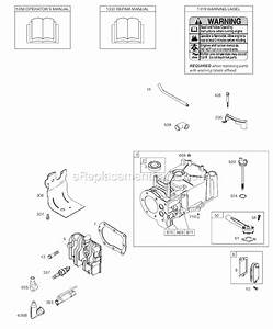 Briggs And Stratton 9t500 Series Parts List And Diagram