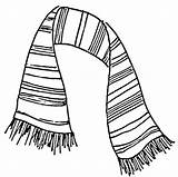 Scarf Drawing Coloring Drawings Pages Colouring Scarves Striped Play Theater Printable Draw Easy Picolour Knitting Knit Getdrawings Paintingvalley Step sketch template