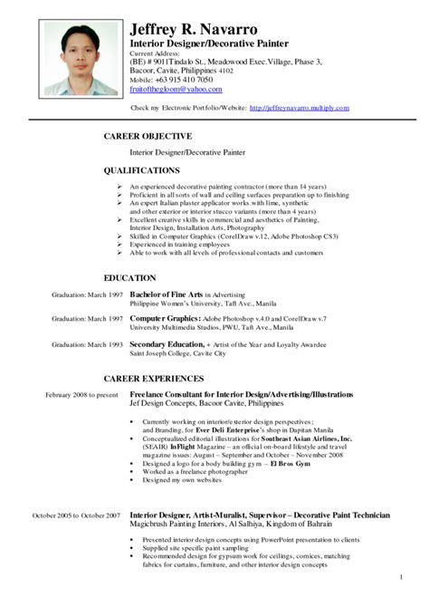 Philippine Standard Resume Format by Philippines Resume Sle Resumes Design
