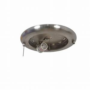 Replace ceiling light with fan : Air cool metarie in brushed nickel ceiling fan