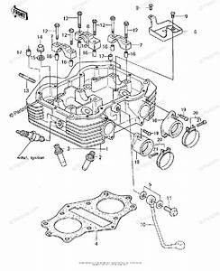 Kawasaki Motorcycle 1980 Oem Parts Diagram For Cylinder