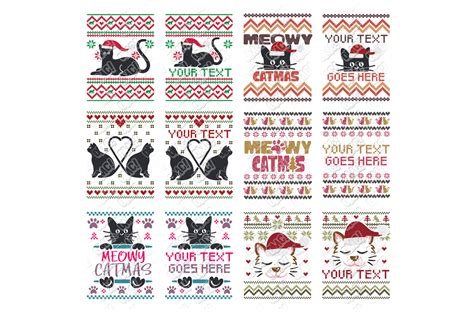 Choose from 1500+ sweater graphic resources and download in the form of png, eps, ai or psd. Cat Ugly Christmas SVG Sweater in SVG, DXF, PNG, EPS, JPEG ...
