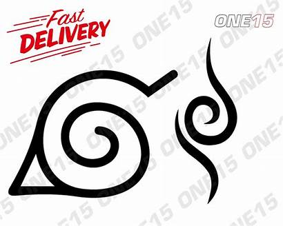 Naruto Symbols Stencil Vinyl Pack Painting Characters