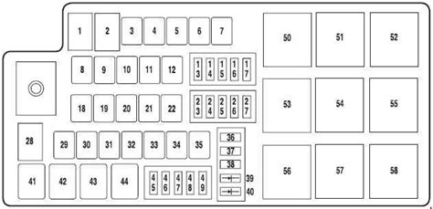 2005 Mercury Montego Fuse Box Location by Mercury Montego 2006 2007 Fuse Box Diagram Auto Genius